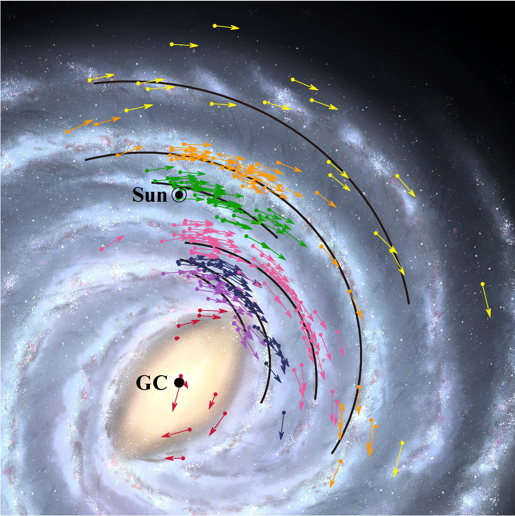 VERA Mappa Galassia Via Lattea